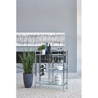 Porch & Den Hurd Chrome 3-shelf Serving Cart with Casters