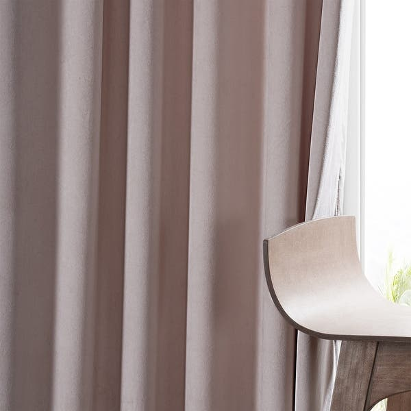 Exclusive Fabrics Heritage Plush Velvet Single Curtain Panel On Sale Overstock 16487372