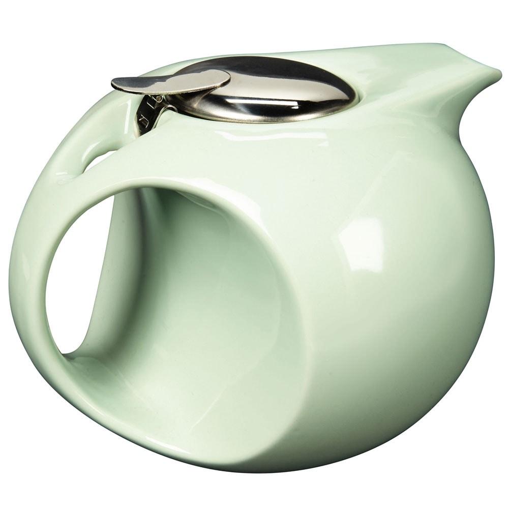 Art Deco Teapot In Mint Green Removable Diffuser Retro Sleek Design 45oz Overstock 16775355