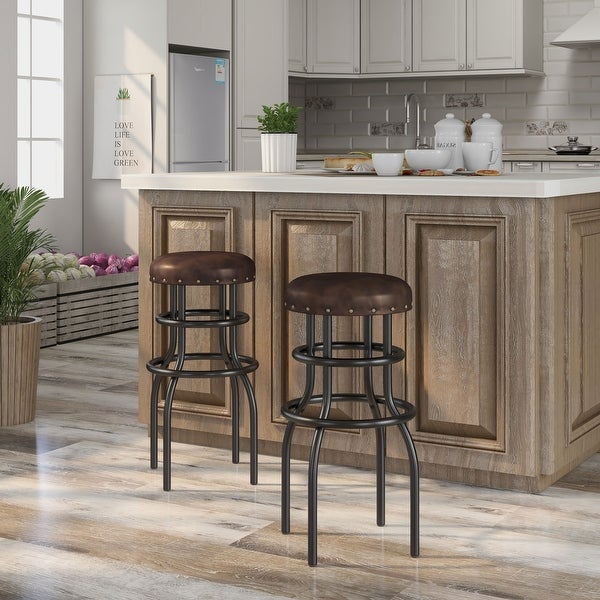 Furniture of America Vigo Rustic Bronze Counter Height Barstool. Opens flyout.