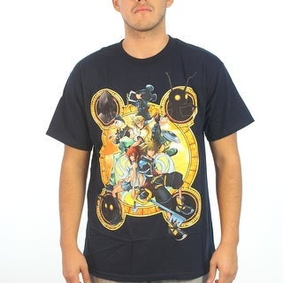 Disney Kingdom Hearts Stacked Against Men's Blue T-shirt