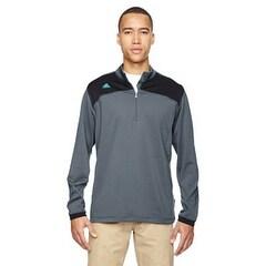 Men's climawarm+ Half-Zip Pullover LEAD/ BLACK M