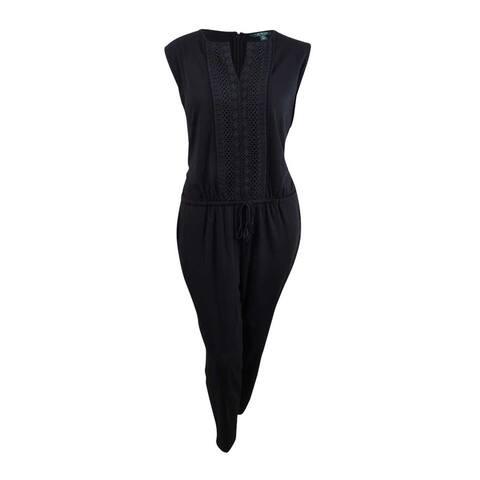 Lauren by Ralph Lauren Women's Plus Size Jumpsuit (3X, Black) - Black - 3X