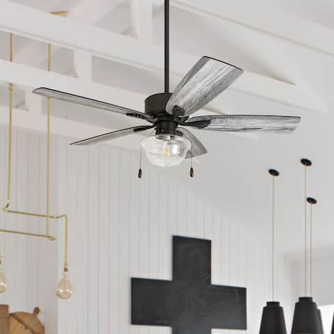The Gray Barn Belvoir 52-inch Coastal Indoor LED Ceiling Fan with Remote Control 5 Reversible Blades - 52