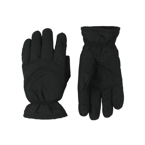 Timberland Mens Winter Gloves Fleece Lined Water Resistant - Black - S