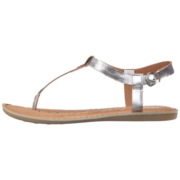 B.O.C Womens Lo Leather Split Toe Casual T-Strap Sandals