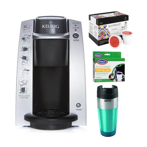 Keurig K130/B130 In-Room Brewing System with Cleaner & Tumbler Bundle