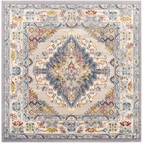Elmas Traditional Persian Medallion Area Rug