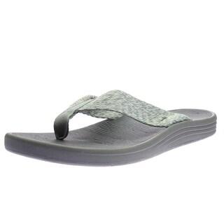 Sanuk Mens Woven Flip-Flops - 11 medium (d)