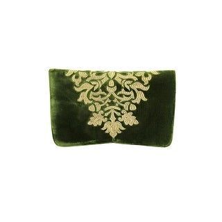 Shiraleah Arabela Women Velour Green Clutch