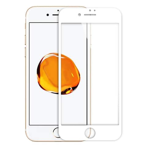 Tempered Glass Anti-Scratch 9H 3D Coverage Screen Protector White for iPhone 7