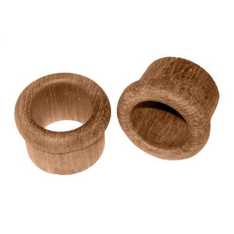 """Whitecap Teak Finger Pull - 1"""" Barrel Length - 2 Pack"""