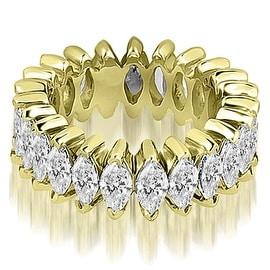 2.88 cttw. 14K Yellow Gold Marquise Diamond Eternity Ring