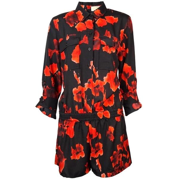 Michael Kors Women's Lava Print Chest Pocketed Romper