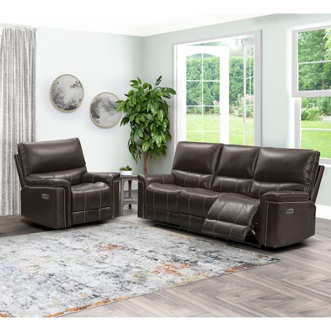 Abbyson Cranbury Power Reclining Sofa and Chair