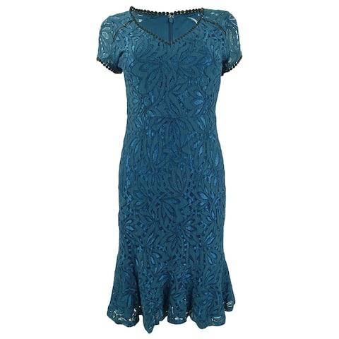 Kensie Women's Lace Flounce Dress