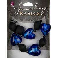 Jewelry Basics Acrylic & Glass Bead Mix 19/Pkg-Black - Black
