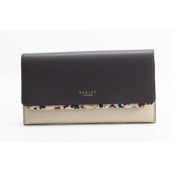 RADLEY LONDON Gray Colorblock Roar Floral Flapover Clutch Wallet