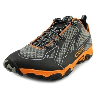 Oboz Helium Men Round Toe Synthetic Gray Trail Running