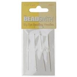 BeadSmith Big Eye Beading Needles 2.125 Inches Long - Pack Of 4
