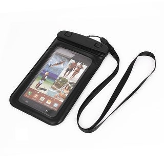 Unique Bargains Waterproof Bag Holder Pouch Black for iPhone 6 Plus w Neck Strap