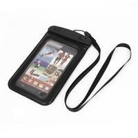 Unique Bargains Waterproof Bag Holder Pouch Black for iPhone 6 Plus w Neck Strap