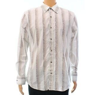 Johnston & Murphy NEW White Ivory Mens Size Large L Button Down Shirt