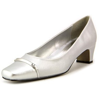 Easy Street Alexis N/S Square Toe Synthetic Heels