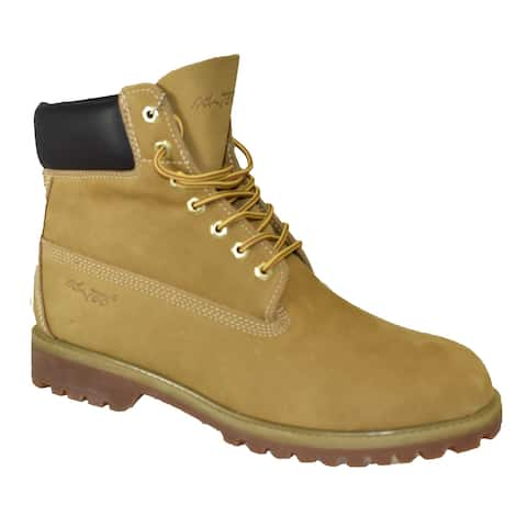 "Men 6"" Tan Leather Work Boot"