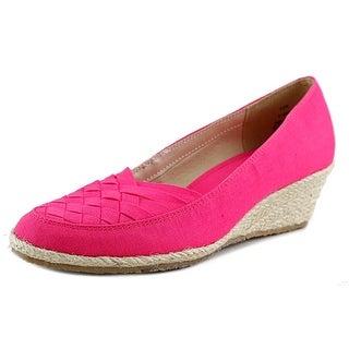 Beacon Sunport Women N/S Open Toe Canvas Pink Wedge Heel