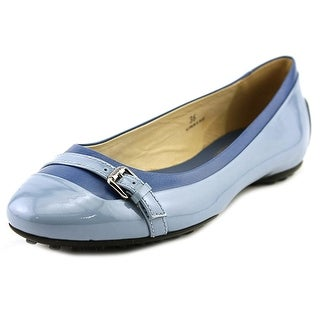 Tod's Ballerina Gomma QS Fibbietta Round Toe Patent Leather Flats
