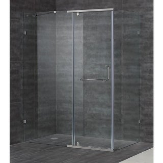 "Aston SEN975-60-10 59"" x 35"" Semi-Frameless Shower Enclosure with 3/8"" Glass"