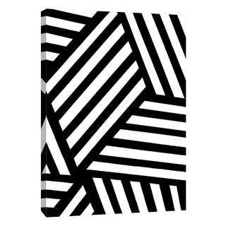 """PTM Images 9-105678  PTM Canvas Collection 10"""" x 8"""" - """"Monochrome Patterns 4"""" Giclee Abstract Art Print on Canvas"""