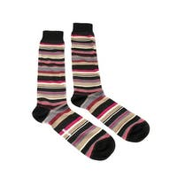 Missoni GM00CMU5235 0003 Black/Pink Knee Length Socks - L