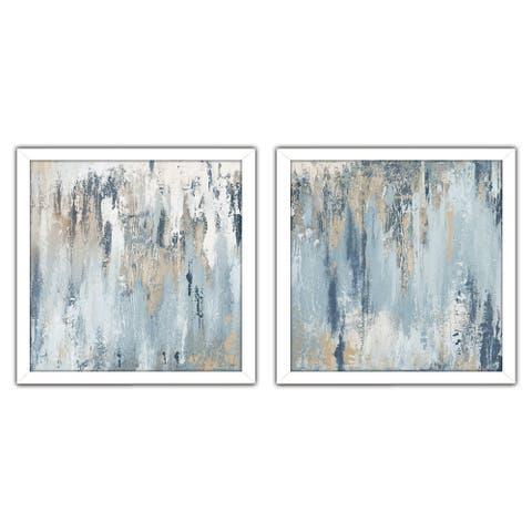 """Blue Illusion Square"" Print on Acrylic Set of 2"