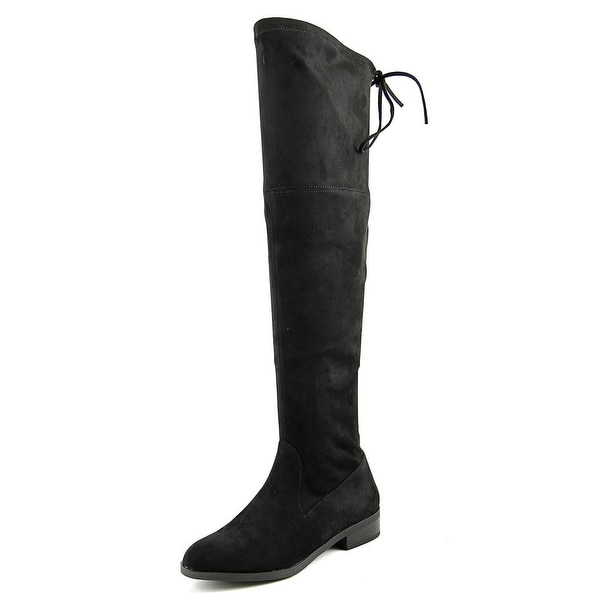 INC International Concepts Imannie Women Suede Black Over the Knee Boot