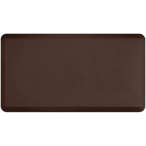 """WellnessMats FitnessMat, Comfort & Support, Non-Slip, Non-Toxic & Stain Resistant, 48"""" x 26"""" x 5/8"""", Brown"""