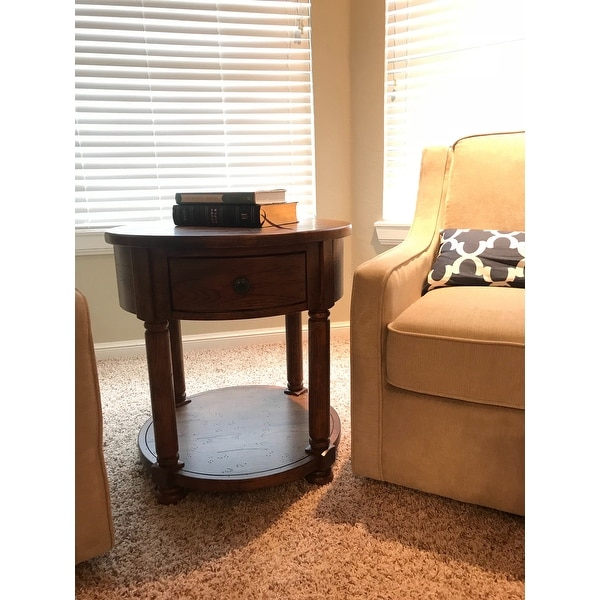 Shop Broyhill Attic Heirlooms Round End Table   Free Shipping Today    Overstock.com   12108909