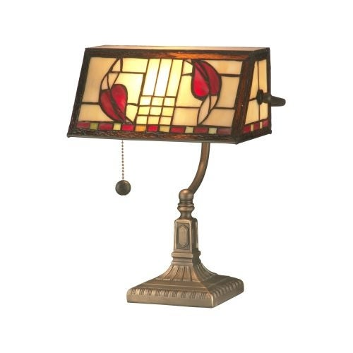 Dale Tiffany TA11010 Henderson Bankers Accent Lamp with 1 Light