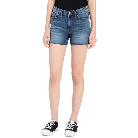 Calvin Klein Jeans Womens Cutoff Shorts Denim Medium Wash