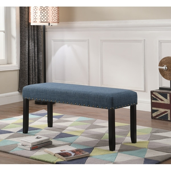 Biony Fabric Dining Bench with Nailhead Trim. Opens flyout.