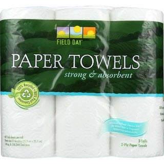 Field Day Paper Towel, 100 Percent Recycled - (Case of 10 - 3 Roll)