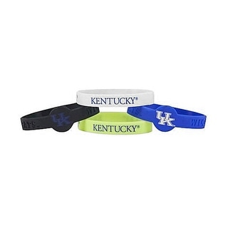 NCAA Sports Team Logo Kentucky Wildcats Silicone Bracelets 4 Pack One Size Multicolor