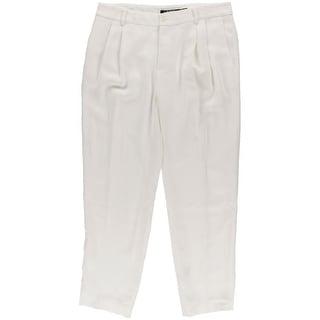 Lauren Ralph Lauren Womens Dress Pants Crepe Double Pleat