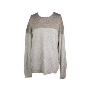 American Rag Beige Colorblocked Crew-Neck Sweater XXL