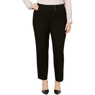 Alfani Womens Dress Pants Black Size 22W Plus Skinny Mid-Rise Stretch