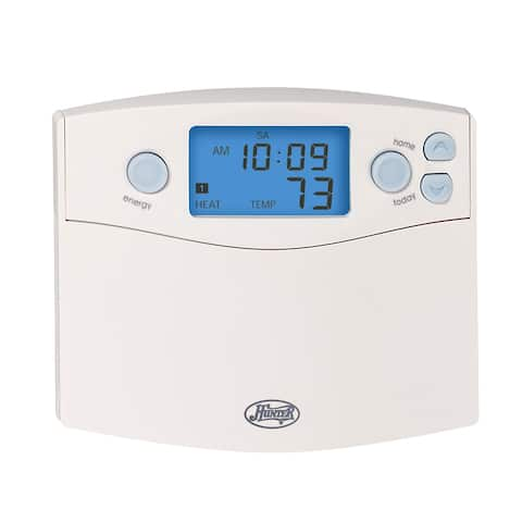 Hunter Home Comfort 44360 Digital 7 Day Programmable Thermostat with Energy Monitor and Indiglo Night Light - White
