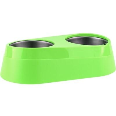 O2cool - Phc0002-Grn - O2c Chill Pet Doubl Bowl Green