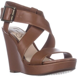 Jessica Simpson Joilet Wedge Sandals, Burnt Umber