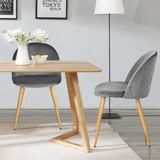 Link to Carson Carrington Saigs Mid-Century Modern Velvet Diamond Dining Chair (Set of 2) Similar Items in Dining Room & Bar Furniture